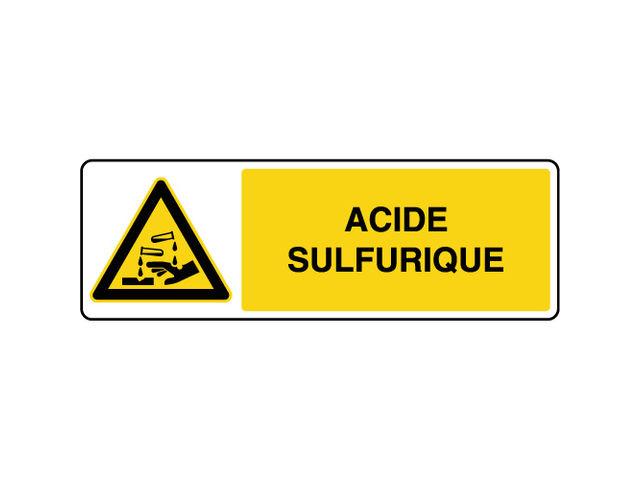 panneau de danger horizontal acide sulfurique contact virages. Black Bedroom Furniture Sets. Home Design Ideas