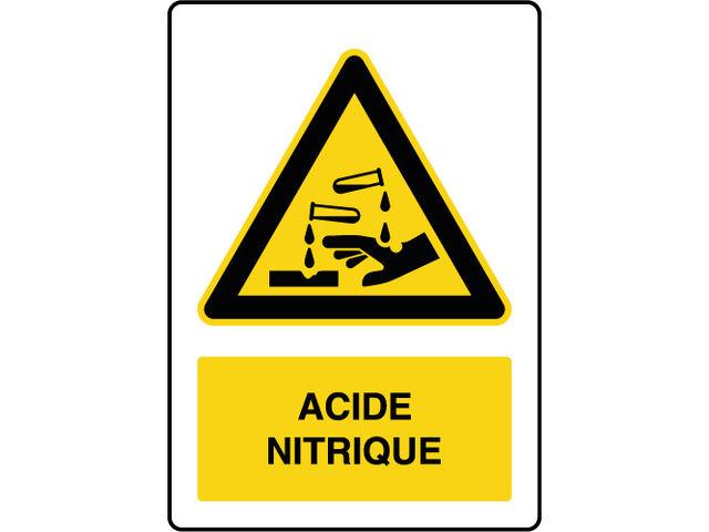 panneau de danger vertical acide nitrique contact virages. Black Bedroom Furniture Sets. Home Design Ideas