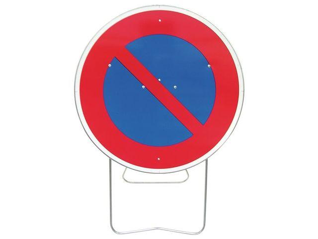 panneau de signalisation temporaire sur pied stationnement interdit contact seton. Black Bedroom Furniture Sets. Home Design Ideas
