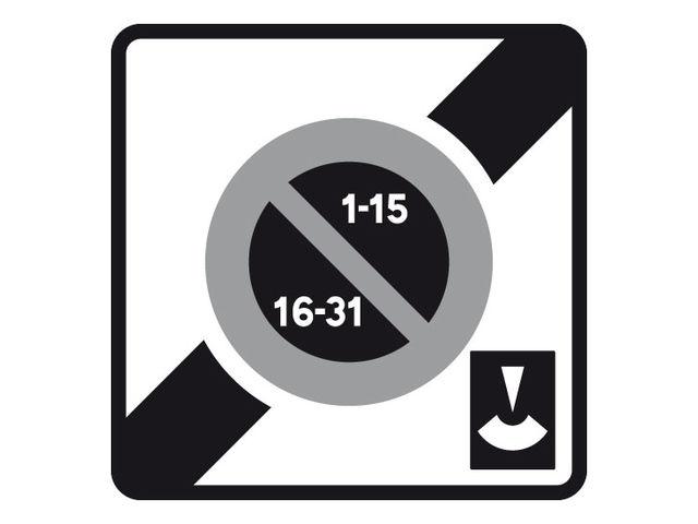 panneau fin zone stationnement altern disque alu contact signals. Black Bedroom Furniture Sets. Home Design Ideas