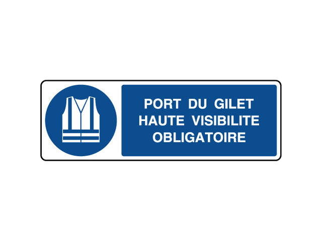 Panneau horizontal port du gilet obligatoire contact virages - Port du gilet de sauvetage obligatoire ...