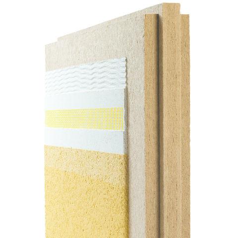 Panneau isolant en fibres de bois support d 39 enduit for Isolant fibre de bois