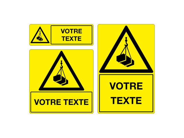 Panneau personnalis attention engins de levage contact signals - Panneau de signalisation personnalise ...