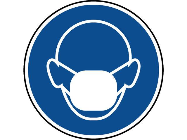 Panneau port du masque anti poussi re obligatoire - Pictogramme port du masque obligatoire ...