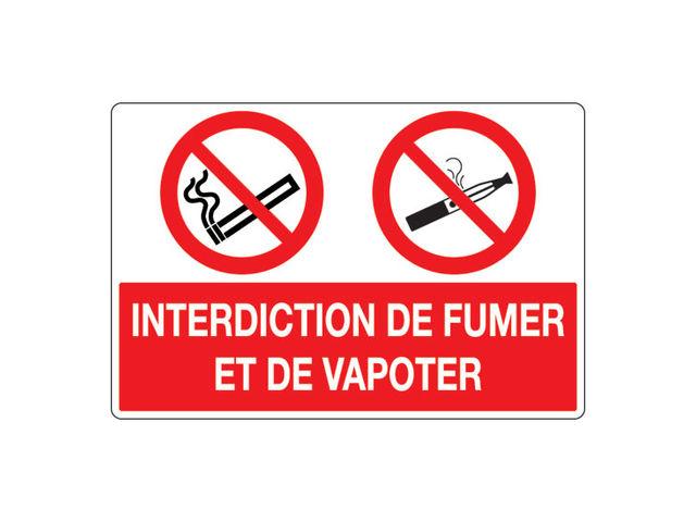 panneau pvc interdit de fumer et vapoter contact signals. Black Bedroom Furniture Sets. Home Design Ideas
