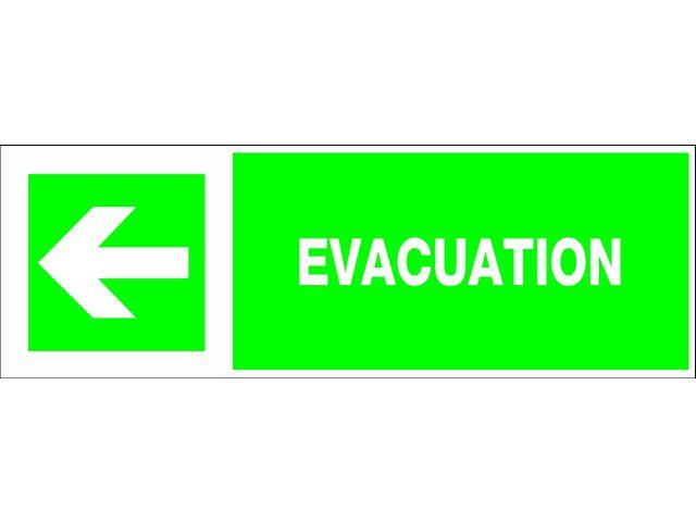 panneau rigide d 39 vacuation 39 fl che gauche 39. Black Bedroom Furniture Sets. Home Design Ideas