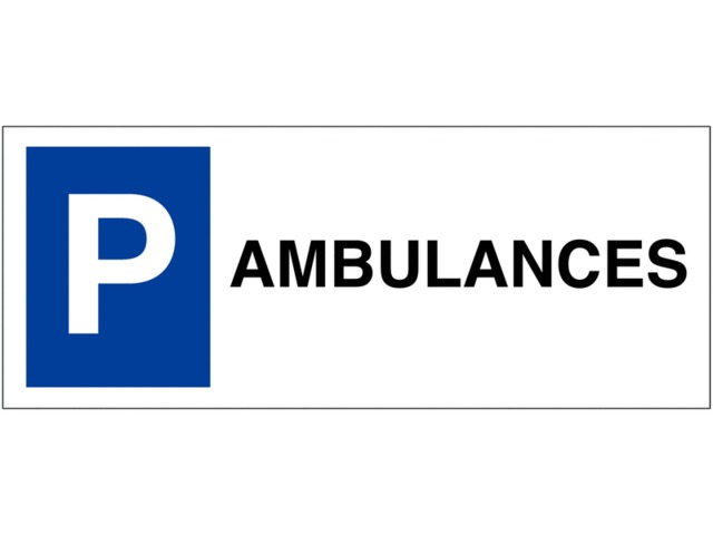 Panneau sur support double Places de parking - Ambulance