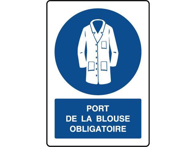 Panneau vertical port de la blouse obligatoire contact virages - Port de couche obligatoire ...