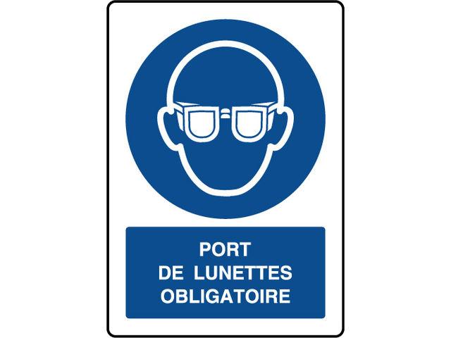 Panneau vertical port de lunettes obligatoire contact virages - Port de couche obligatoire ...