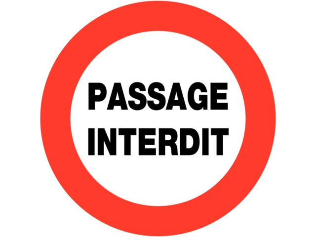 panneaux de circulation circulation interdite passage interdit contact seton. Black Bedroom Furniture Sets. Home Design Ideas