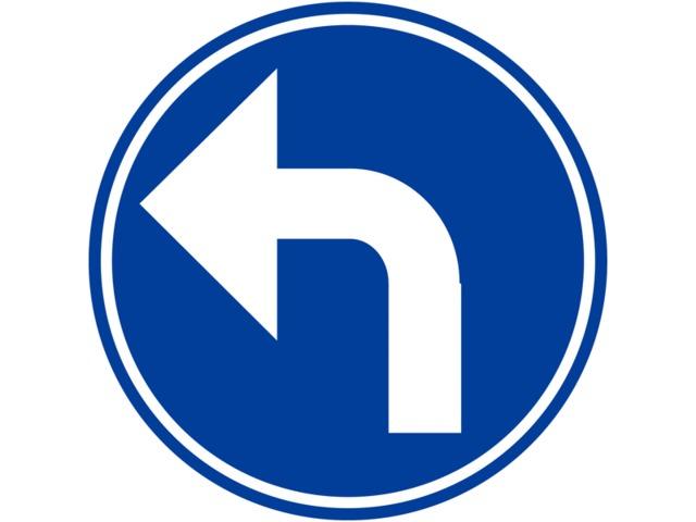 panneaux de circulation direction obligatoire la prochaine intersection gauche contact seton. Black Bedroom Furniture Sets. Home Design Ideas