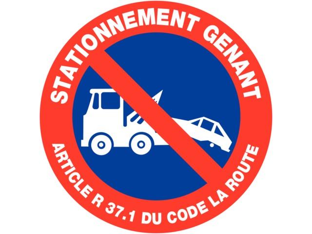 Panneau interdiction de stationner - Panneau de stationnement interdit ...