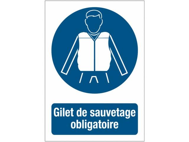 Panneaux de signalisation autour des quais port du gilet de sauvetage obligatoire contact seton - Port du gilet obligatoire ...