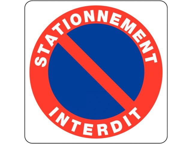 Panneaux en pvc stationnement g nant stationnement - Panneau interdiction stationner ...