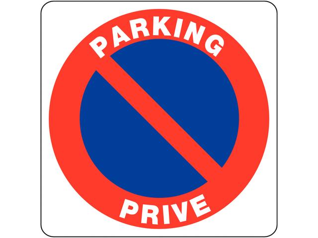 panneaux en pvc stationnement interdit parking priv contact seton. Black Bedroom Furniture Sets. Home Design Ideas
