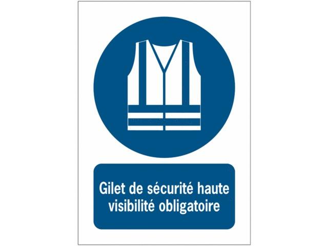 cd5afaceea0013 Panneaux ISO 7010 à message vertical - Gilet de sécurité haute visibilité  obligatoire - M015. Autocollants et pictogrammes