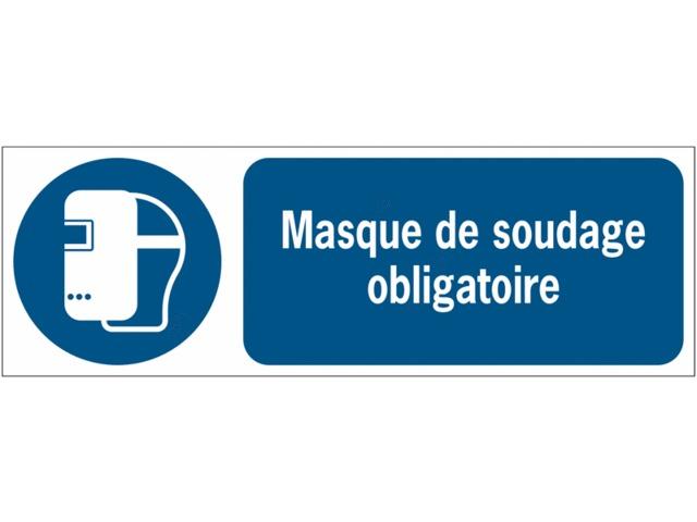0e22bcc4ec7223 Panneaux ISO 7010 d obligation à message horizontal - Masque de soudage -  M019