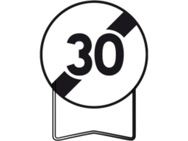 panneaux temporaire de prescription b33 fin de limitation de vitesse a 30km h contact btp. Black Bedroom Furniture Sets. Home Design Ideas