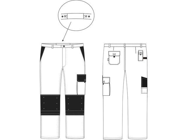 c0d09475e43 Pantalon de travail Gris Noir poches genoux TYPHON C P 310gr - PBV -