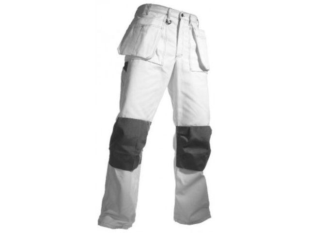 pantalon de travail pour peintre haut de gamme blanc contact securistock fr. Black Bedroom Furniture Sets. Home Design Ideas