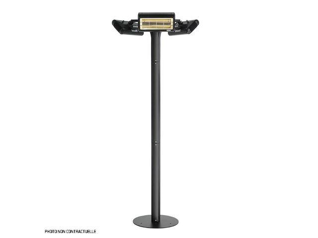 parasol chauffant electrique riviera elite gris 6000w max contact airchaud diffusion. Black Bedroom Furniture Sets. Home Design Ideas