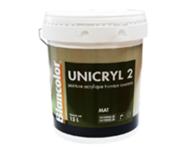 peinture acrylique mate garnissante unicryl 2 contact blancolor. Black Bedroom Furniture Sets. Home Design Ideas