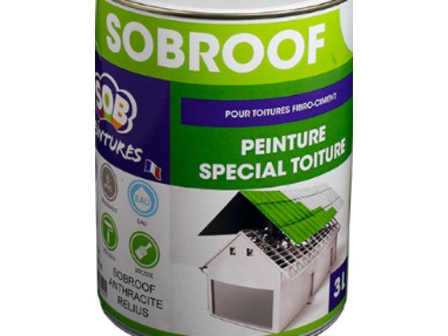 Peinture acrylique monocomposant pour toitures en fibro-ciment et tuiles béton : SOBROOF ...