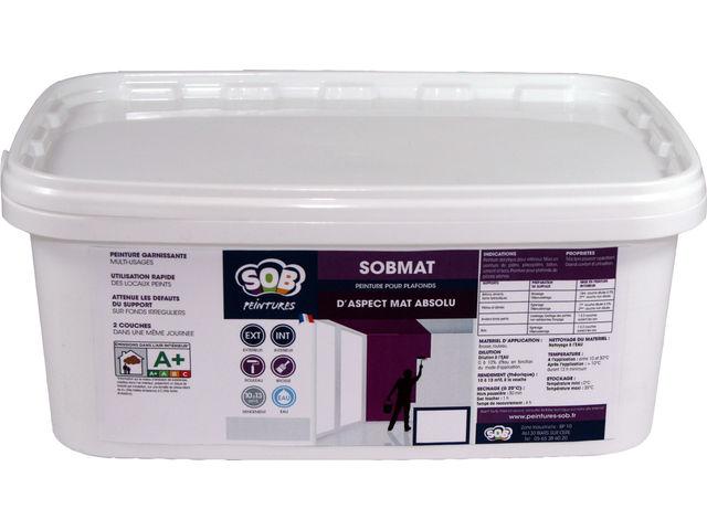 Peinture acrylique pour intérieur SOBMAT | Contact SOB SOLUTIONS