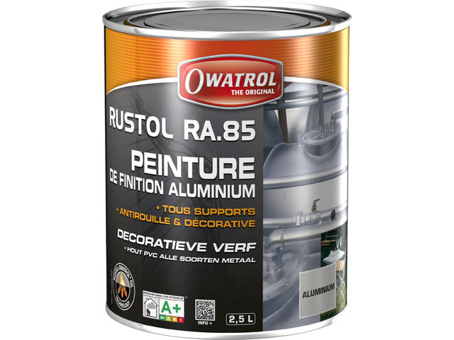 Peinture de finition aluminium tous supports rustol alu for Peinture tous supports