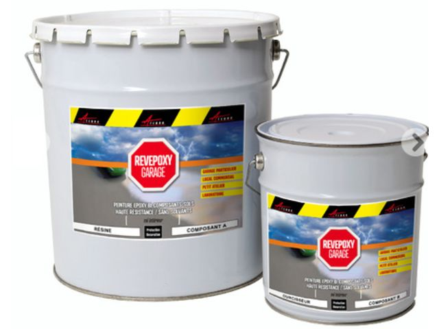 Peinture epoxy garage sol atelier local commercial magasin - REVEPOXY GARAGE _2