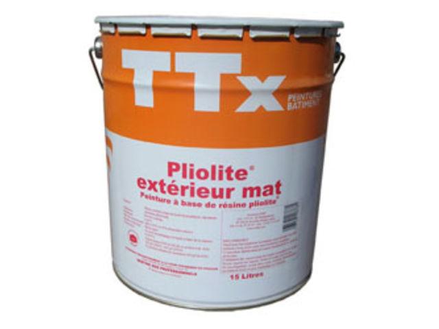 Peinture fa ade garnissante ttx pliolite ext rieur mat contact peintures - Peinture mur exterieur pliolite ...