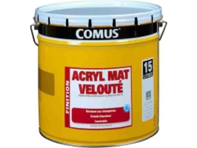 peinture finition mat lavable comus acryl mat veloute contact btp group achatmat. Black Bedroom Furniture Sets. Home Design Ideas