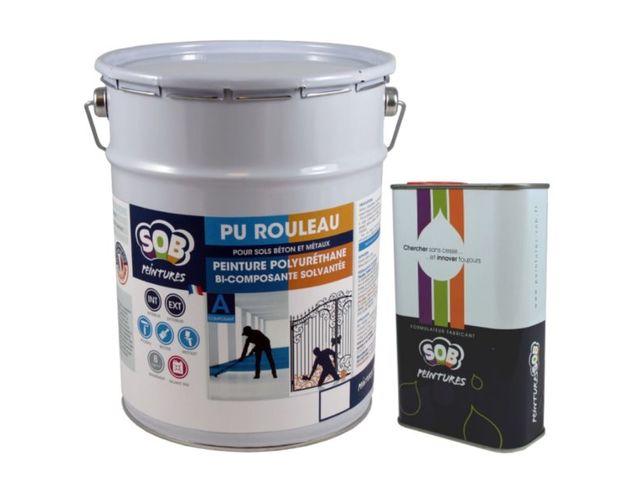 Peinture polyuréthane bi-composante solvantée - PU ROULEAU | Contact PEINTURES SOB