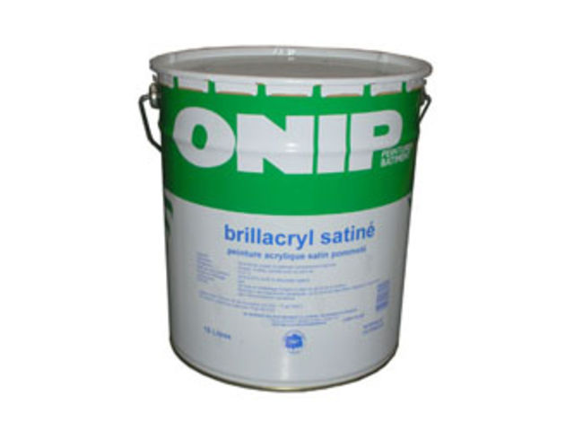 Peinture satin e brillacryl satin contact peintures onip for Peinture satinee