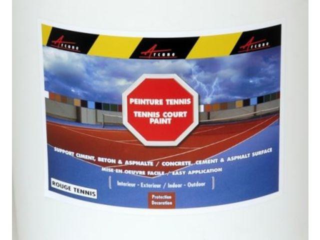 Peinture Tennis Terrain Court Sol Sportif Revêtement Extérieur Coloré  ARCANE INDUSTRIES