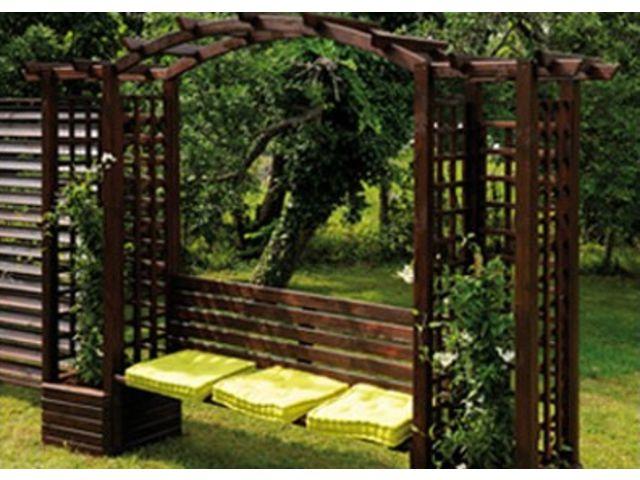 pergola banquette en bois autoclave contact france abris. Black Bedroom Furniture Sets. Home Design Ideas