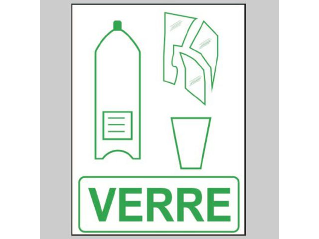pictogramme recyclage du verre contact roll 201 co