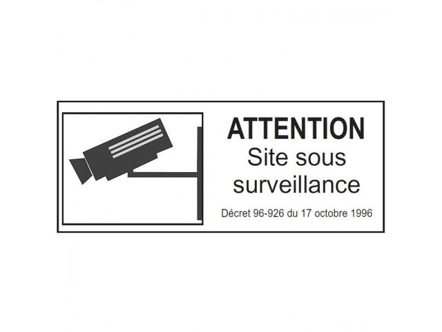pictogramme site sous vid o surveillance contact pro signalisation. Black Bedroom Furniture Sets. Home Design Ideas