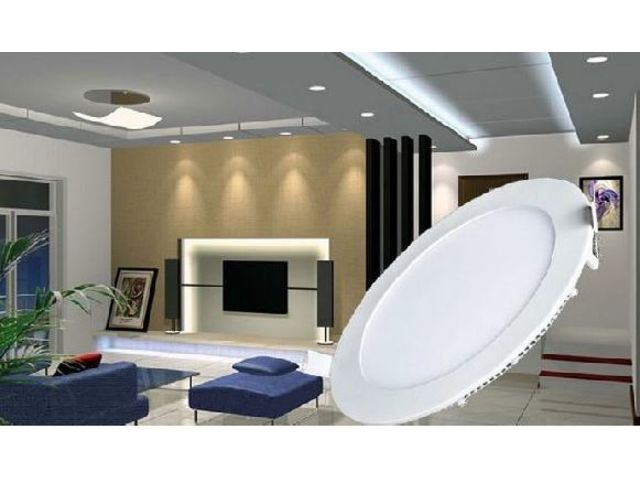 plafonnier led rond encastrable contact my led neon. Black Bedroom Furniture Sets. Home Design Ideas