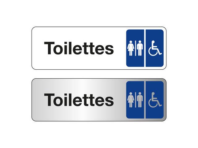 Plaque de porte toilettes hommes femmes handicap s - Largeur de porte pour accessibilite handicape ...