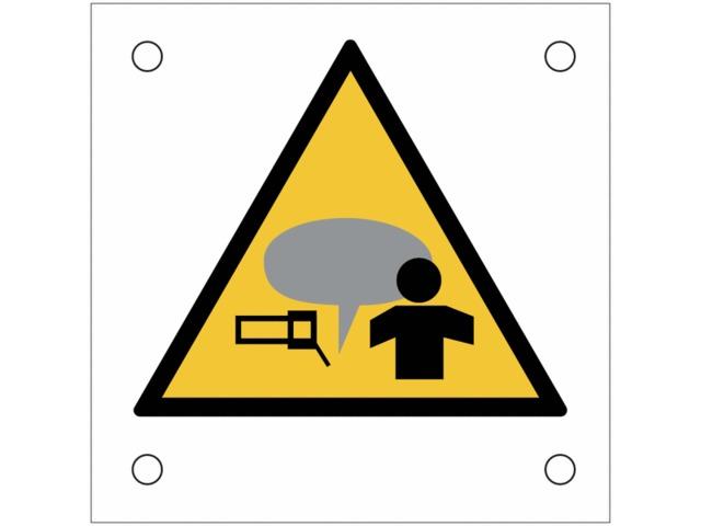plaques de signalisation pour machines attention vos mains fum e soudure contact seton. Black Bedroom Furniture Sets. Home Design Ideas