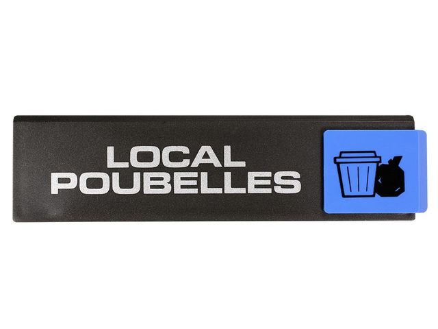 Plaquette Local poubelles - Europe design 175x45mm - 4260501