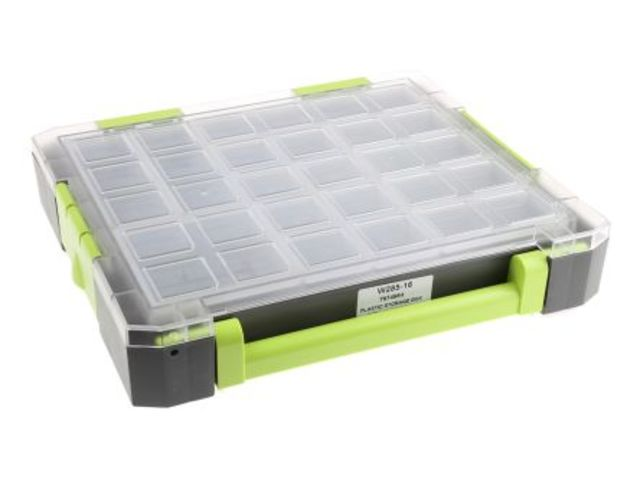 Plastic Storage Box With 16 Inserts