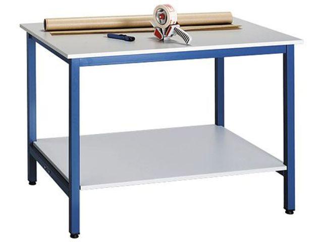 plateau d 39 atelier inf rieur l 120 x p 80 cm pour poste de travail debout gris contact maxiburo. Black Bedroom Furniture Sets. Home Design Ideas
