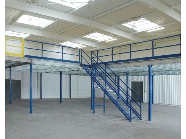 Plateforme de stockage et mezzanine industrielle contact for Plan de plateforme patio