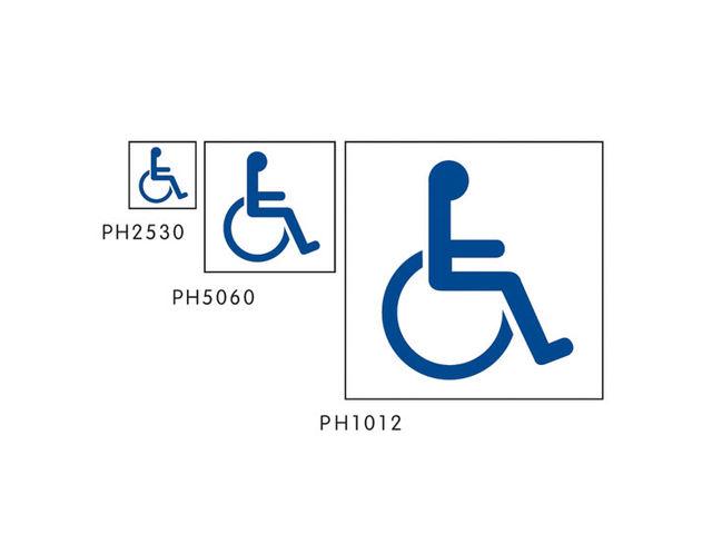 pochoir papier handicap pour marquage parking contact signals. Black Bedroom Furniture Sets. Home Design Ideas
