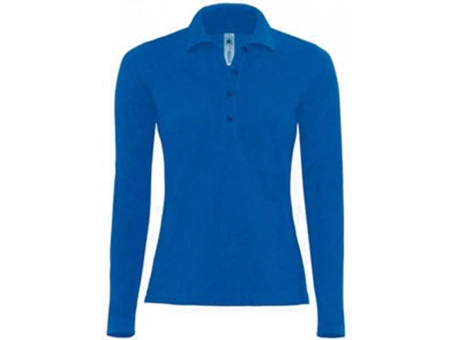 Polo safran femme manches longues_ADD ON TEXTILE_2