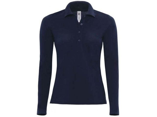 Polo safran femme manches longues_ADD ON TEXTILE_3