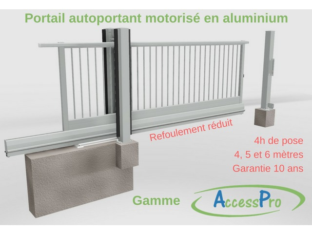 portail autoportant motoris en aluminium contact serviacom proaccess. Black Bedroom Furniture Sets. Home Design Ideas