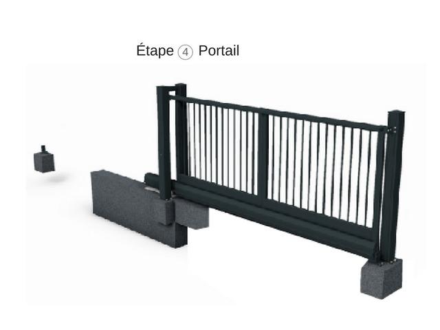portail autoportant motoris en aluminium contact. Black Bedroom Furniture Sets. Home Design Ideas